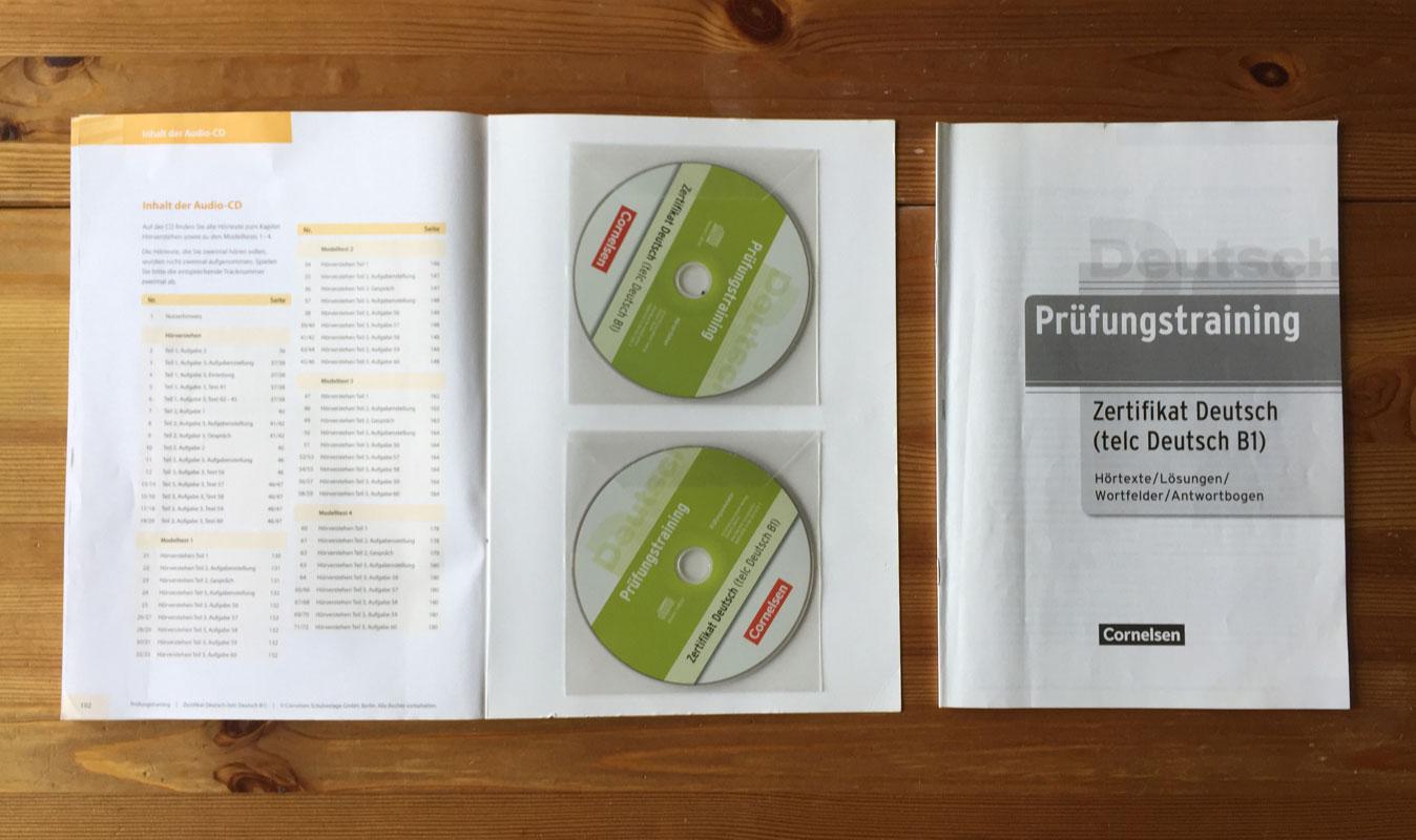 Lernmaterial zum Deutsch lernen: Prüfungstraining telc Deutsch B1
